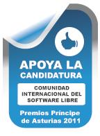 Apoyo a la candidatura del Software Libre al premio Principa de Asturias